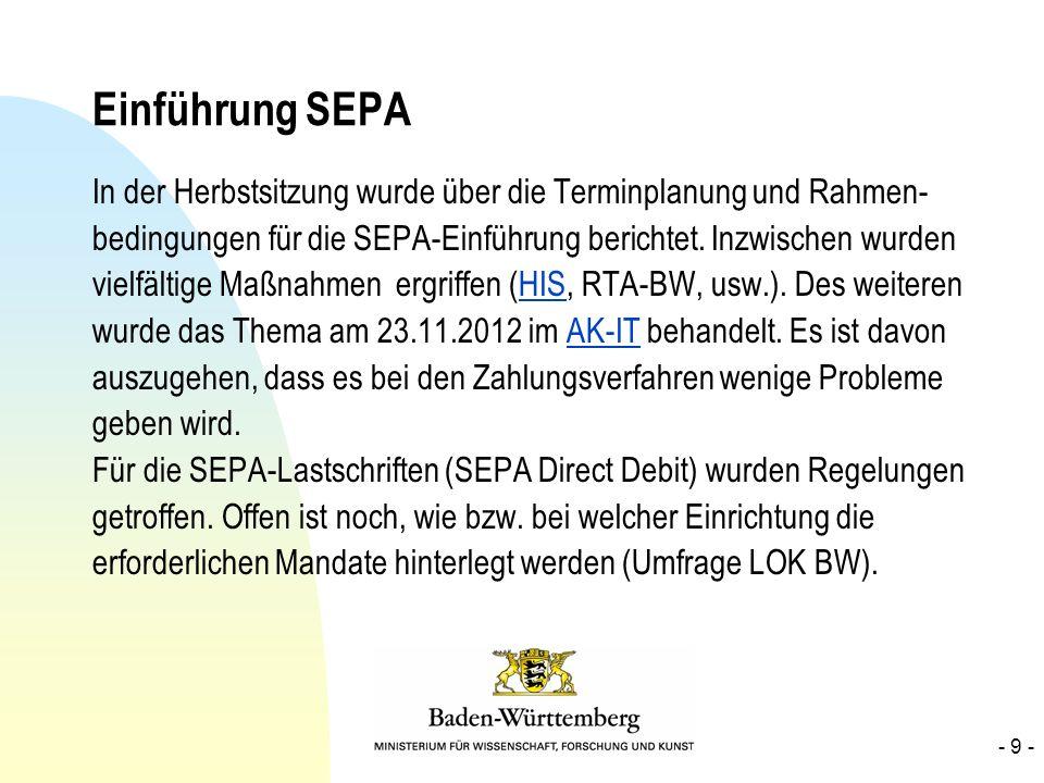 Einführung SEPA