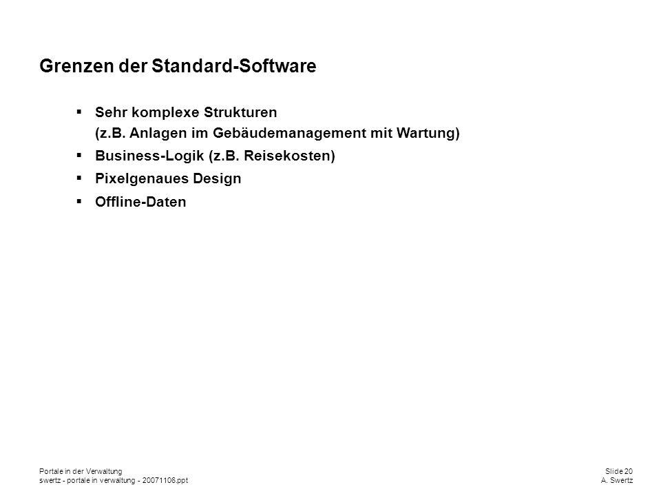 Grenzen der Standard-Software