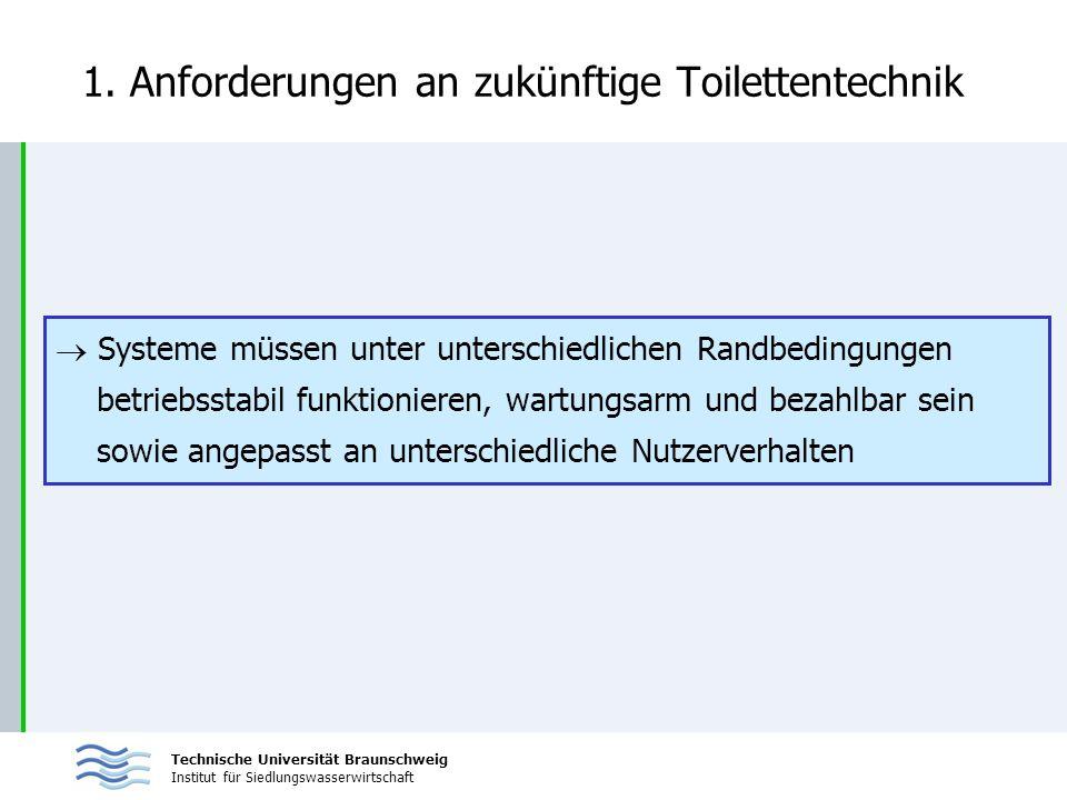 1. Anforderungen an zukünftige Toilettentechnik