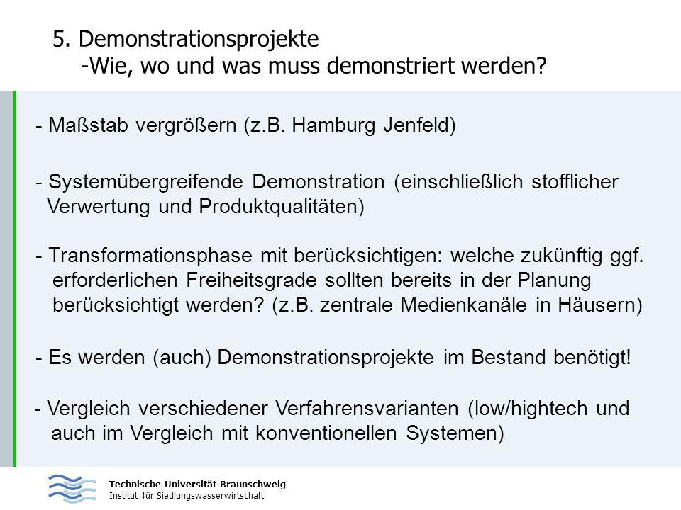 5. Demonstrationsprojekte -Wie, wo und was muss demonstriert werden