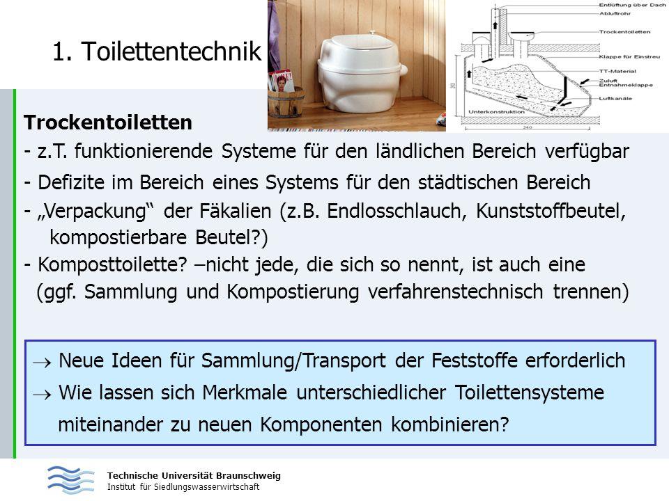 1. Toilettentechnik Trockentoiletten