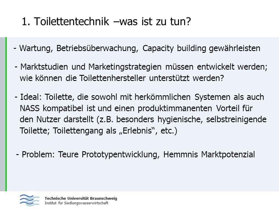 1. Toilettentechnik –was ist zu tun