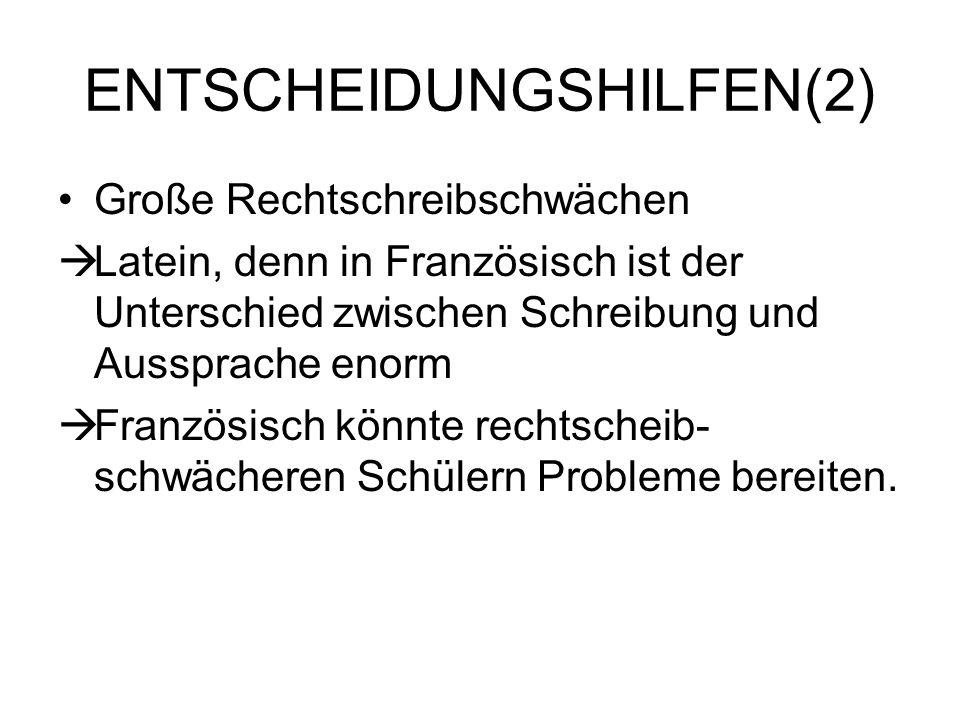 ENTSCHEIDUNGSHILFEN(2)