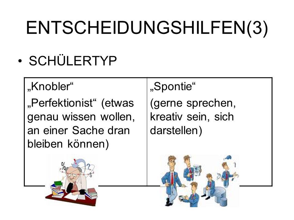 ENTSCHEIDUNGSHILFEN(3)