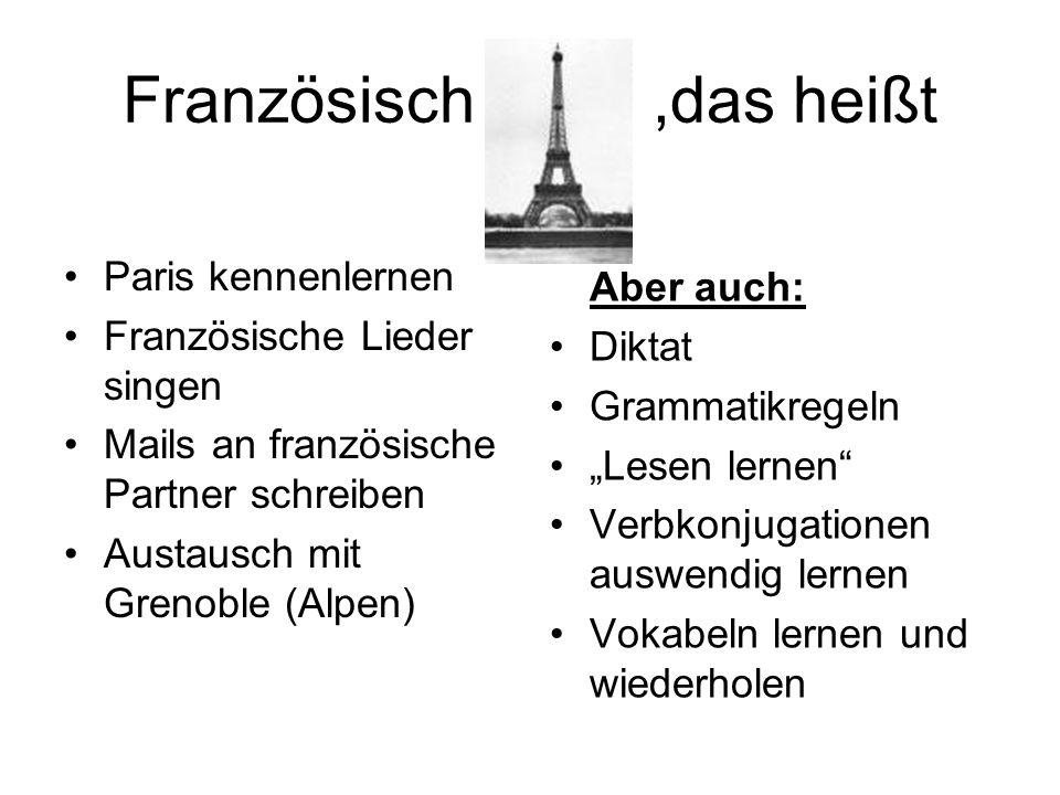Das kennenlernen französisch