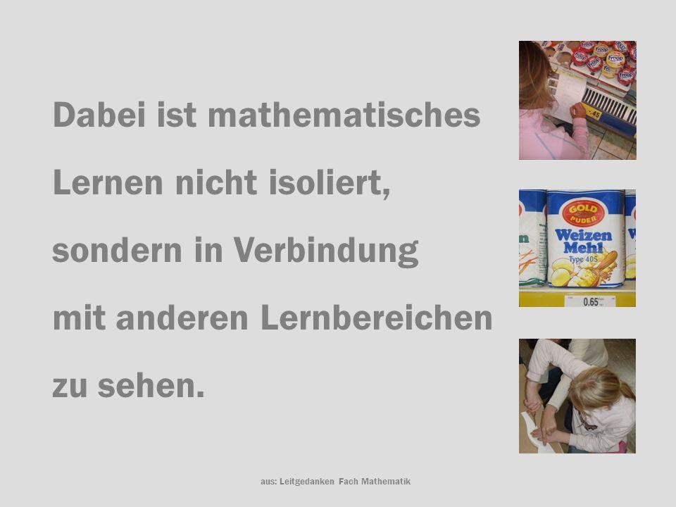 aus: Leitgedanken Fach Mathematik