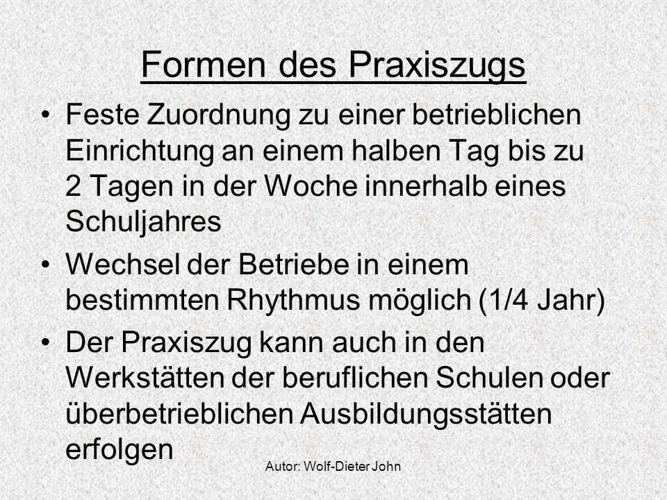 Autor: Wolf-Dieter John