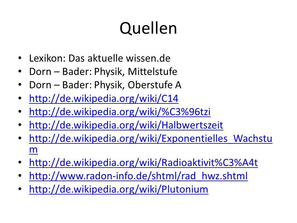 Quellen Lexikon: Das aktuelle wissen.de