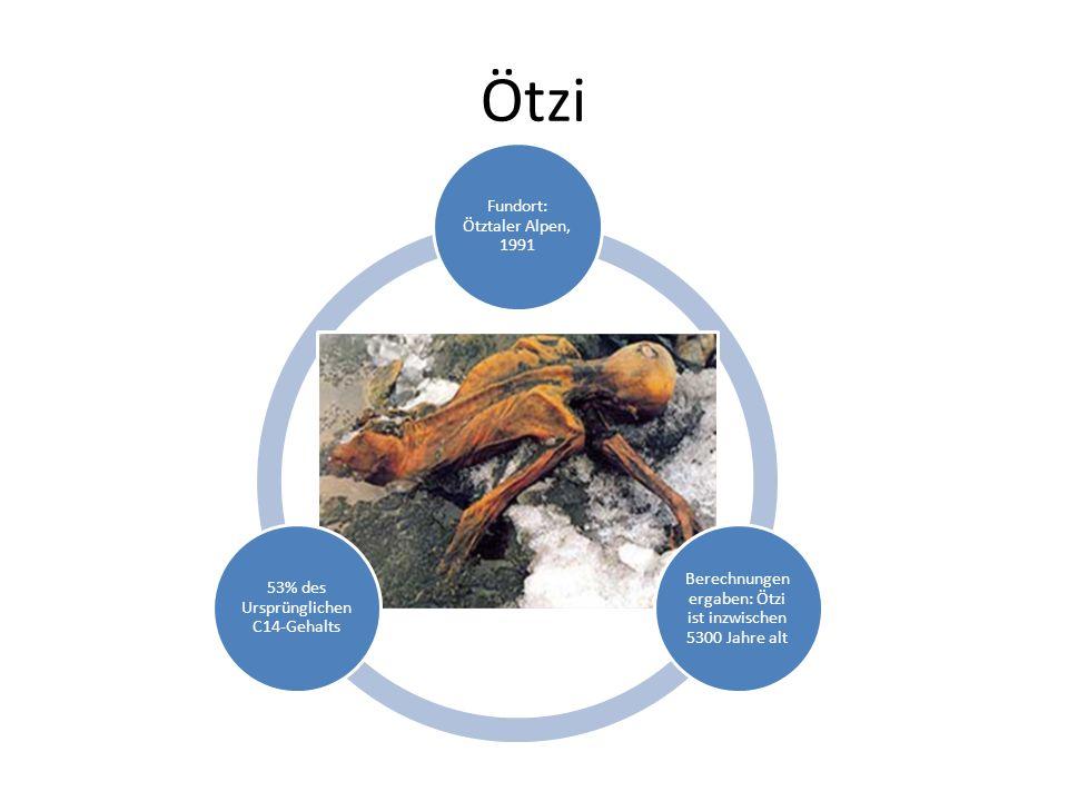 Ötzi Fundort: Ötztaler Alpen, 1991