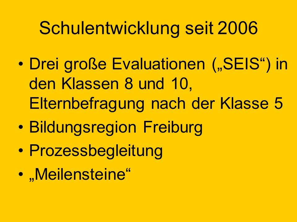 Schulentwicklung seit 2006