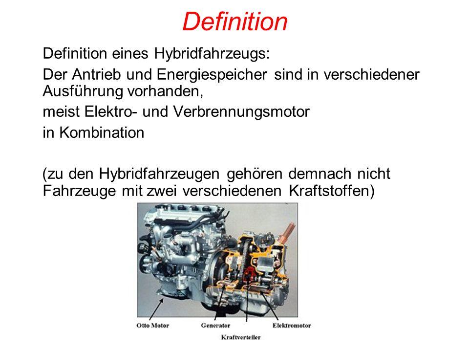 Definition Definition eines Hybridfahrzeugs: