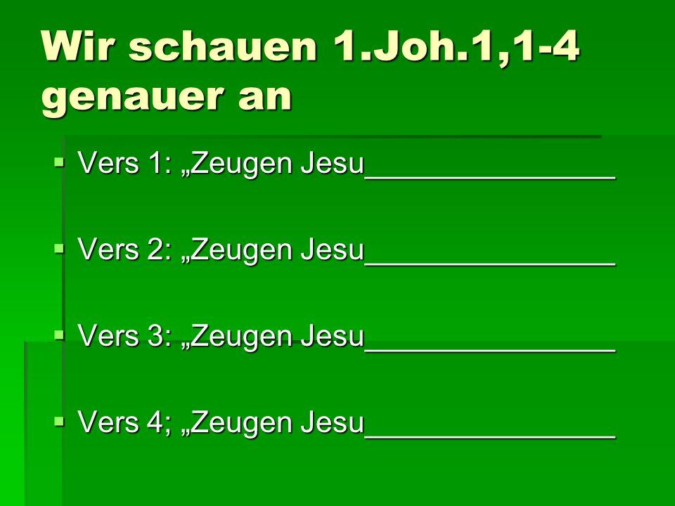 Wir schauen 1.Joh.1,1-4 genauer an