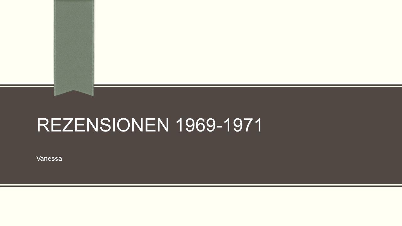 Rezensionen 1969-1971 Vanessa