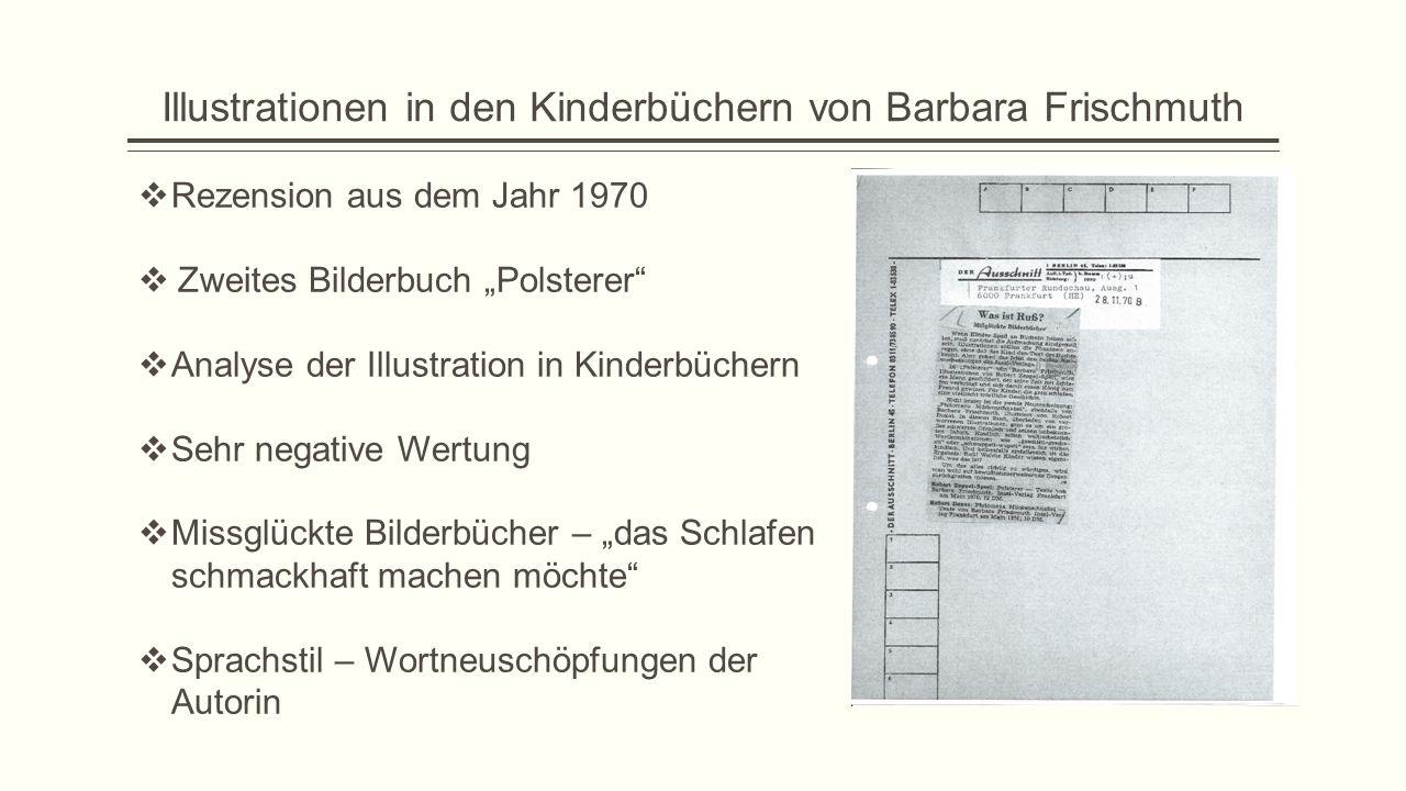 Illustrationen in den Kinderbüchern von Barbara Frischmuth
