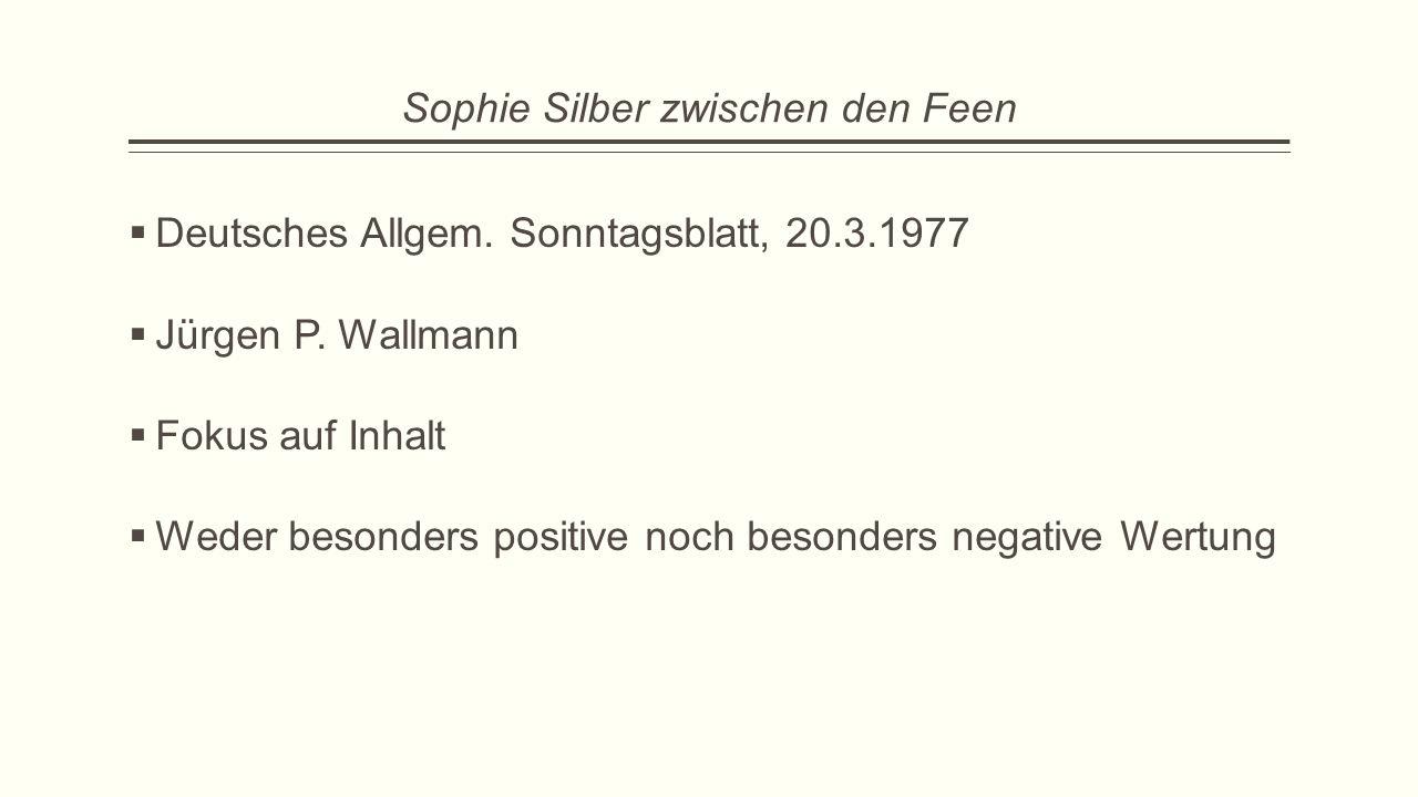 Sophie Silber zwischen den Feen