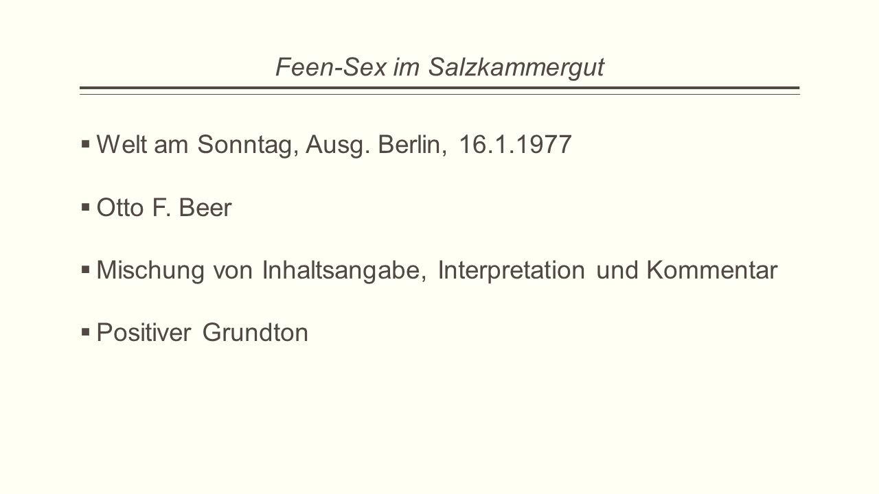 Feen-Sex im Salzkammergut