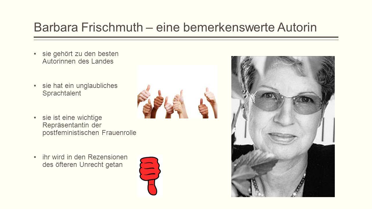 Barbara Frischmuth – eine bemerkenswerte Autorin