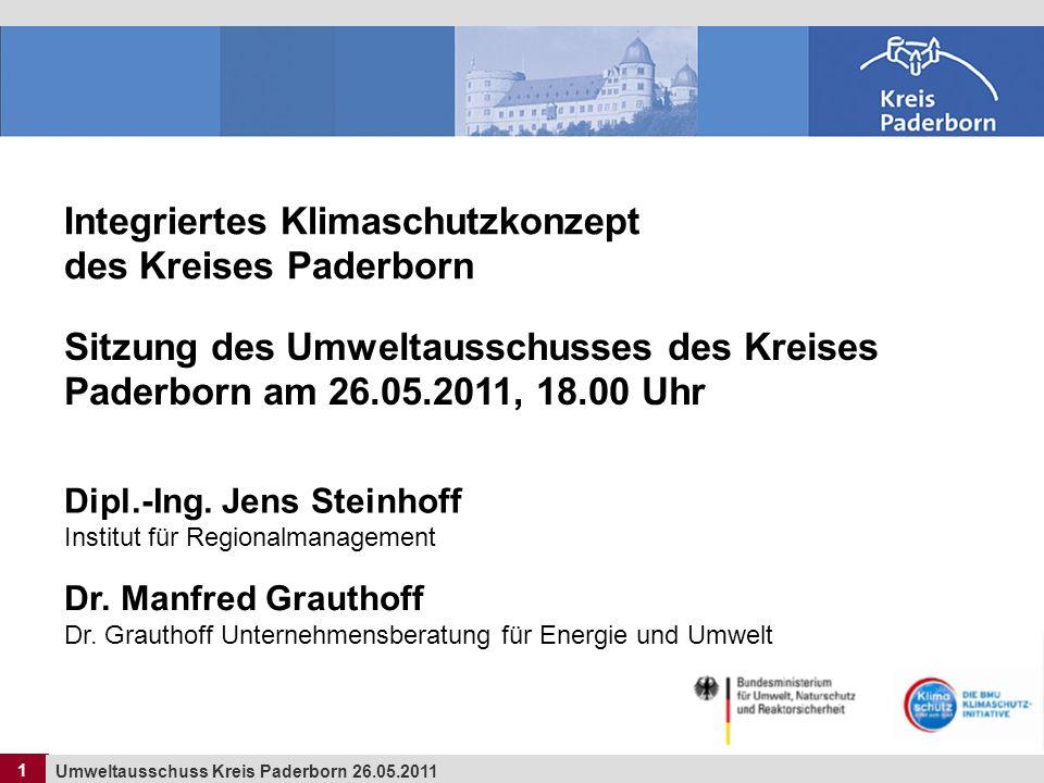 Integriertes Klimaschutzkonzept des Kreises Paderborn