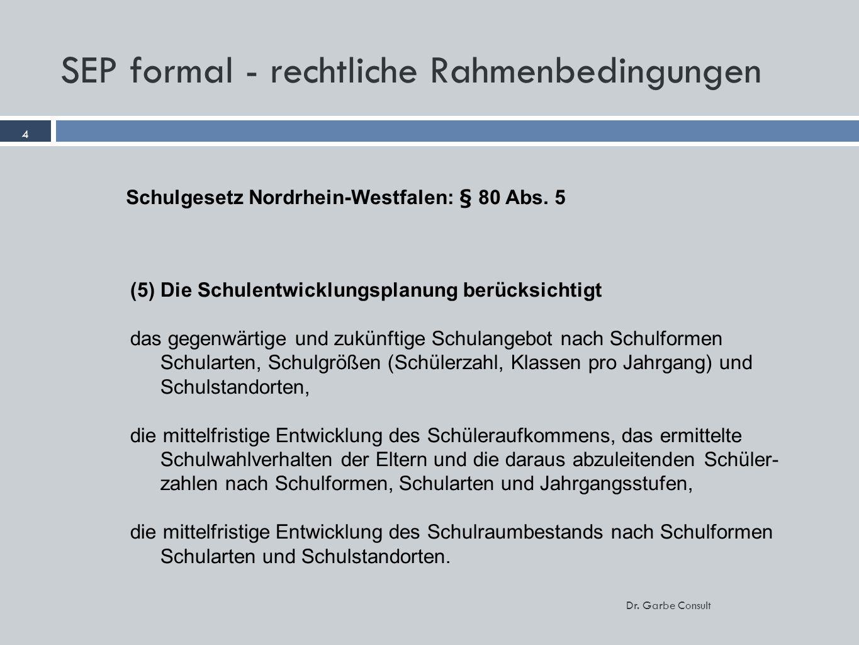 SEP formal - rechtliche Rahmenbedingungen