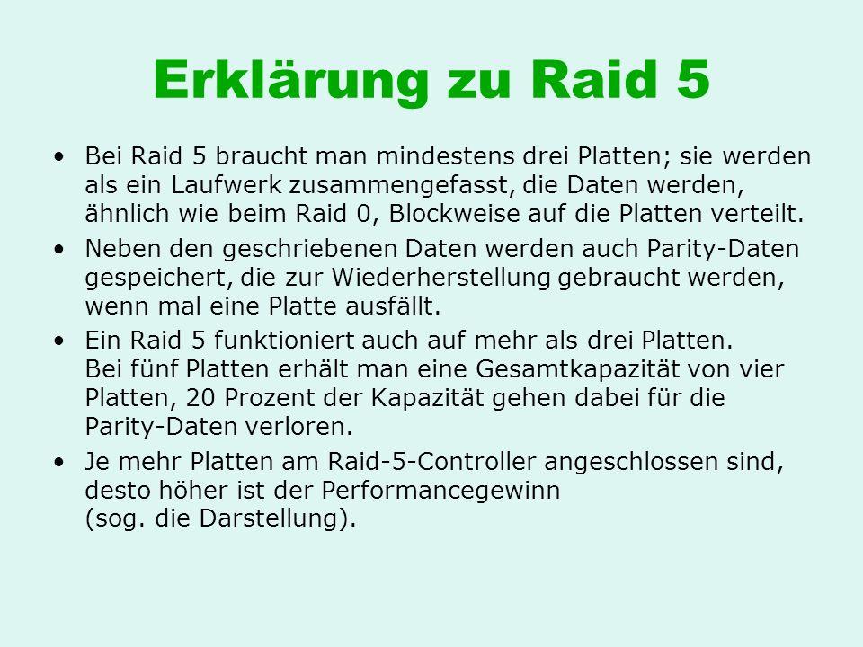 Erklärung zu Raid 5