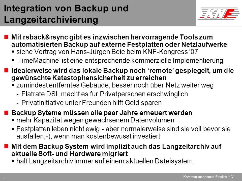 Integration von Backup und Langzeitarchivierung