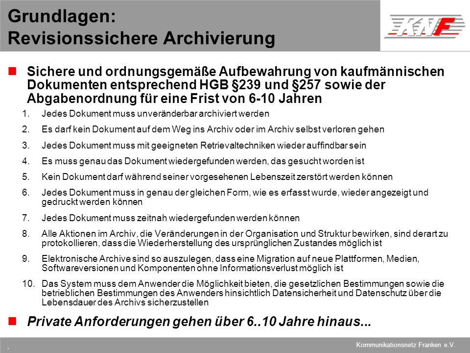 Grundlagen: Revisionssichere Archivierung