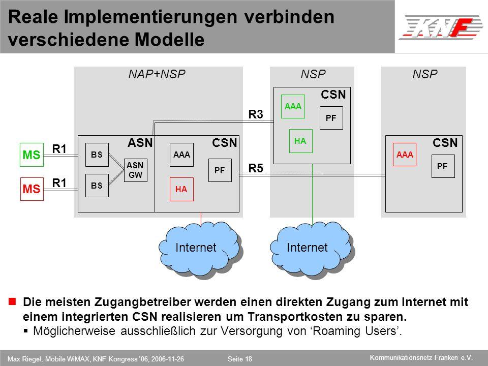 Reale Implementierungen verbinden verschiedene Modelle