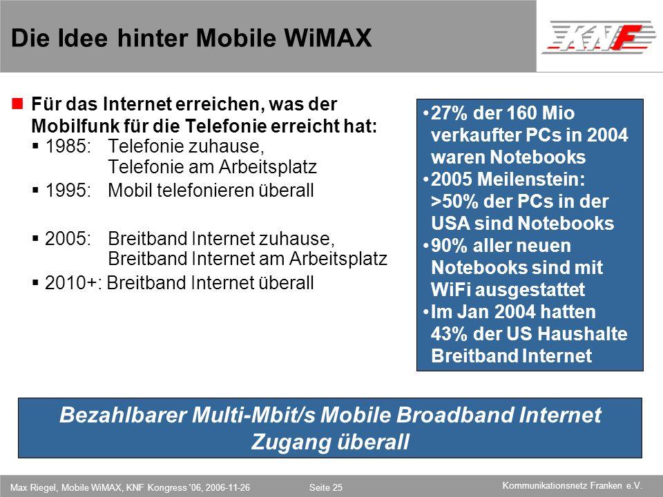 Die Idee hinter Mobile WiMAX