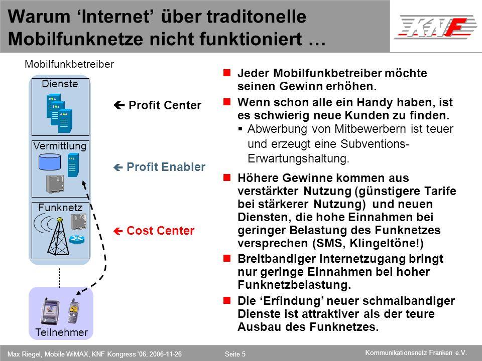 Warum 'Internet' über traditonelle Mobilfunknetze nicht funktioniert …