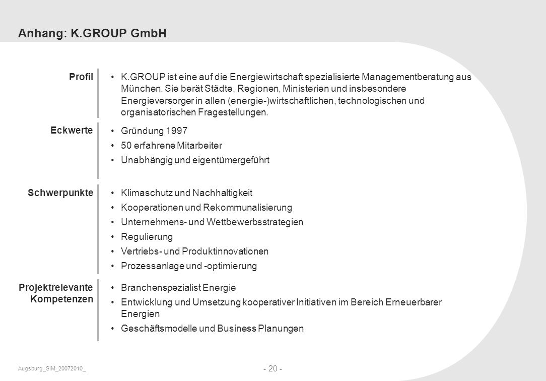 Anhang: K.GROUP GmbH Profil