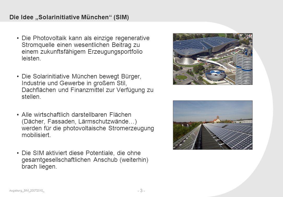 """Die Idee """"Solarinitiative München (SIM)"""