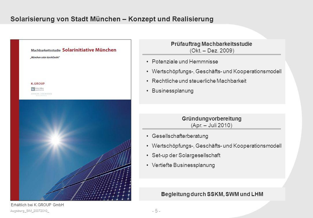 Solarisierung von Stadt München – Konzept und Realisierung