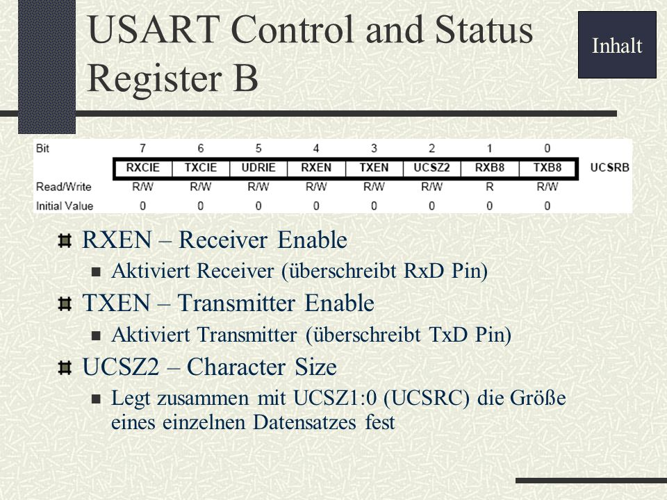 USART Control and Status Register B