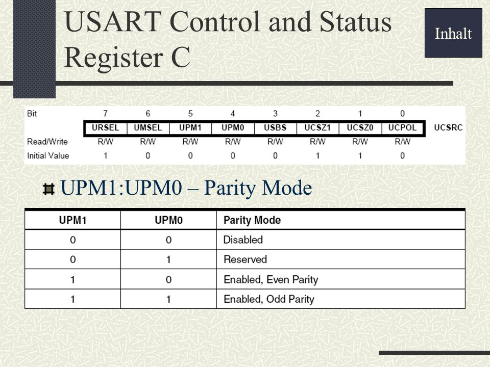 USART Control and Status Register C