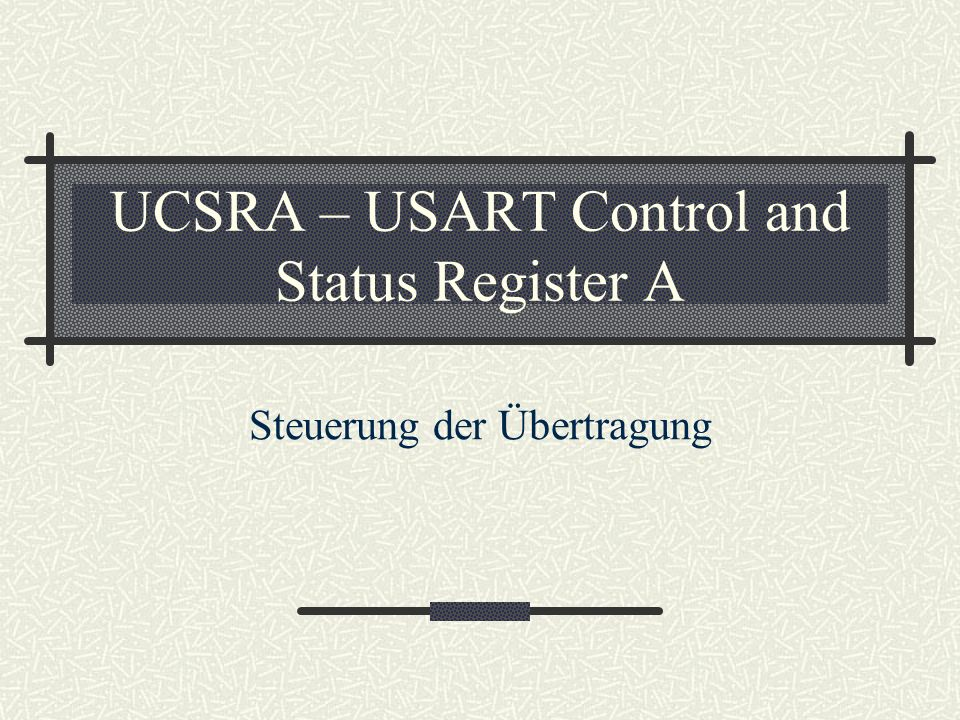 UCSRA – USART Control and Status Register A