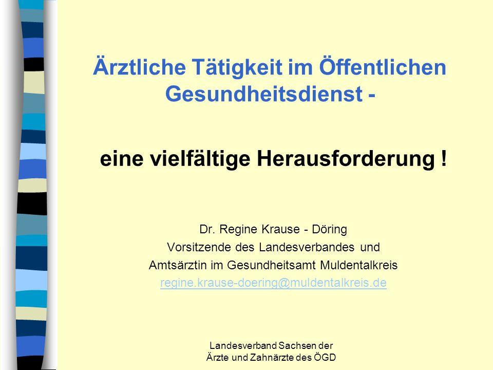 Ärztliche Tätigkeit im Öffentlichen Gesundheitsdienst -