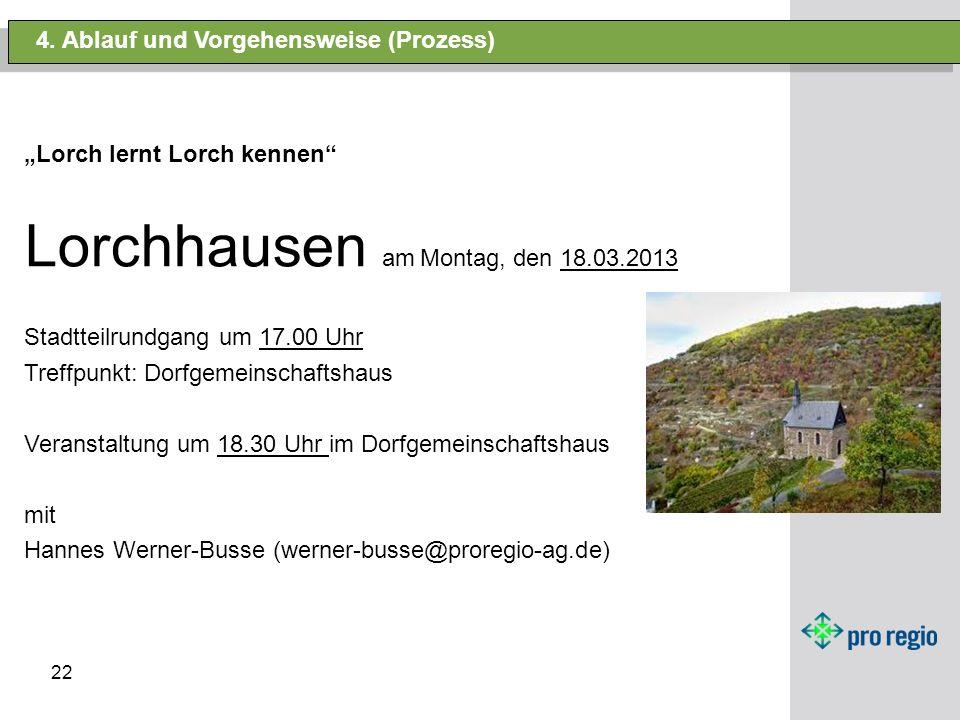 Lorchhausen am Montag, den 18.03.2013