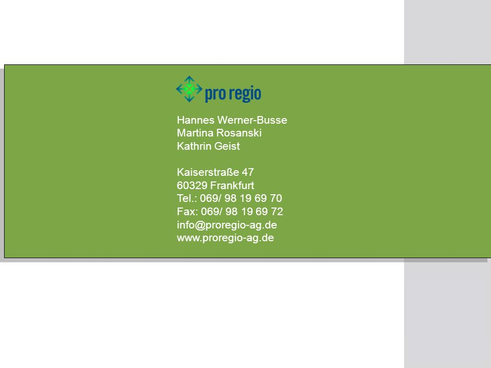 Hannes Werner-Busse Martina Rosanski Kathrin Geist Kaiserstraße 47