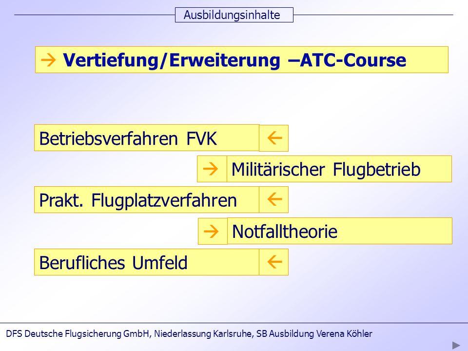  Vertiefung/Erweiterung –ATC-Course