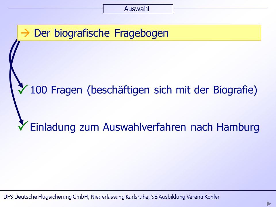 P P  Der biografische Fragebogen