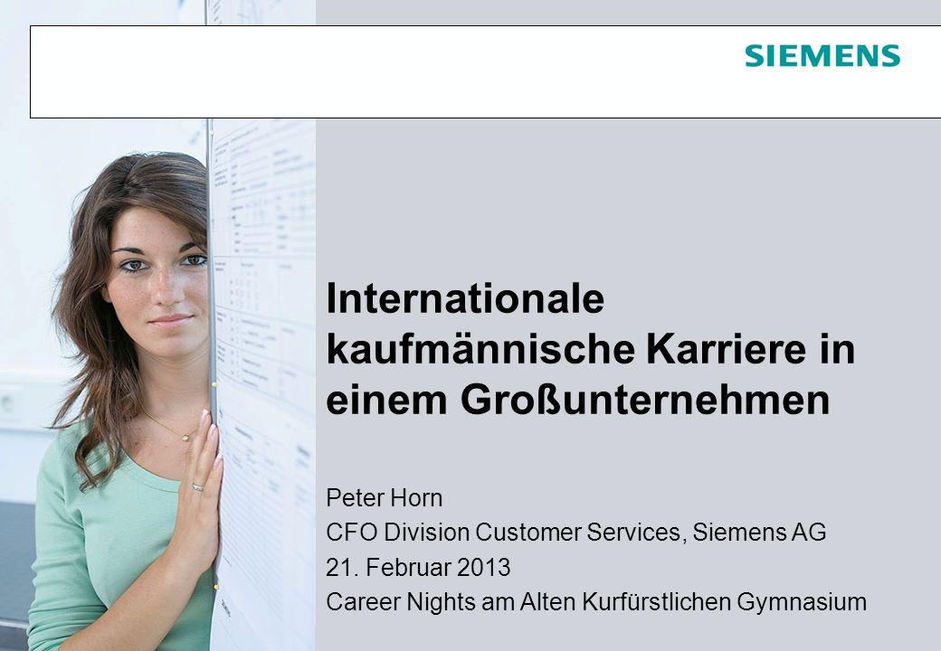 Internationale kaufmännische Karriere in einem Großunternehmen