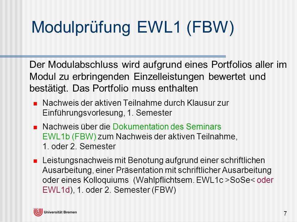 Modulprüfung EWL1 (FBW)