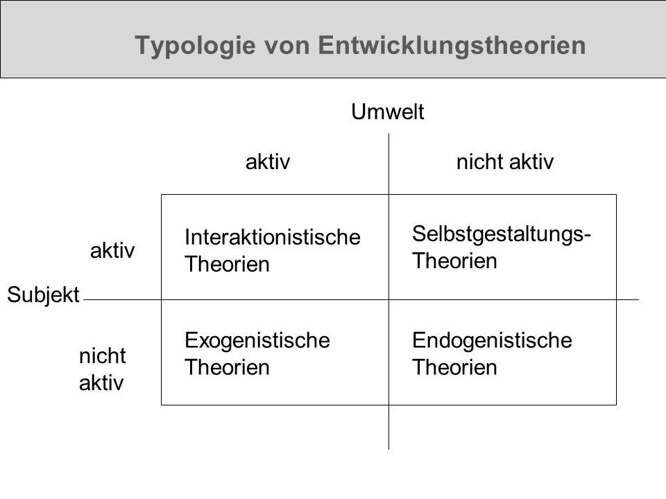 Typologie von Entwicklungstheorien