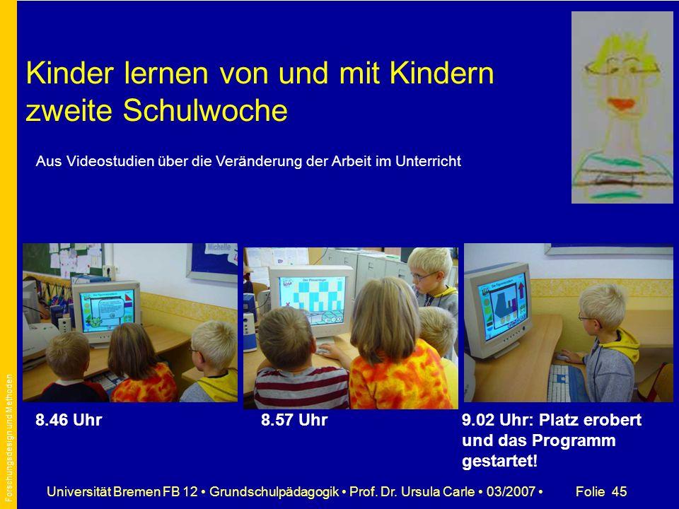 Kinder lernen von und mit Kindern zweite Schulwoche