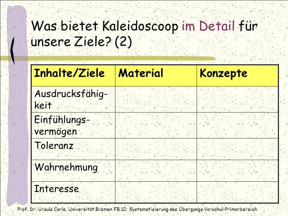 Was bietet Kaleidoscoop im Detail für unsere Ziele (2)