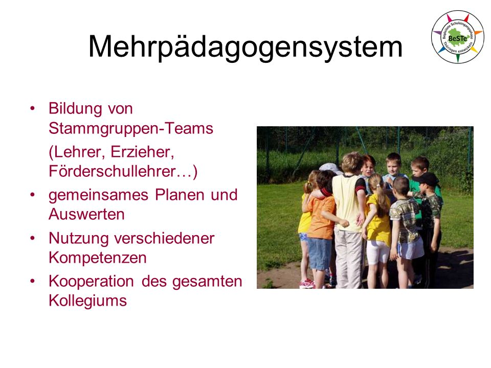 Mehrpädagogensystem Bildung von Stammgruppen-Teams