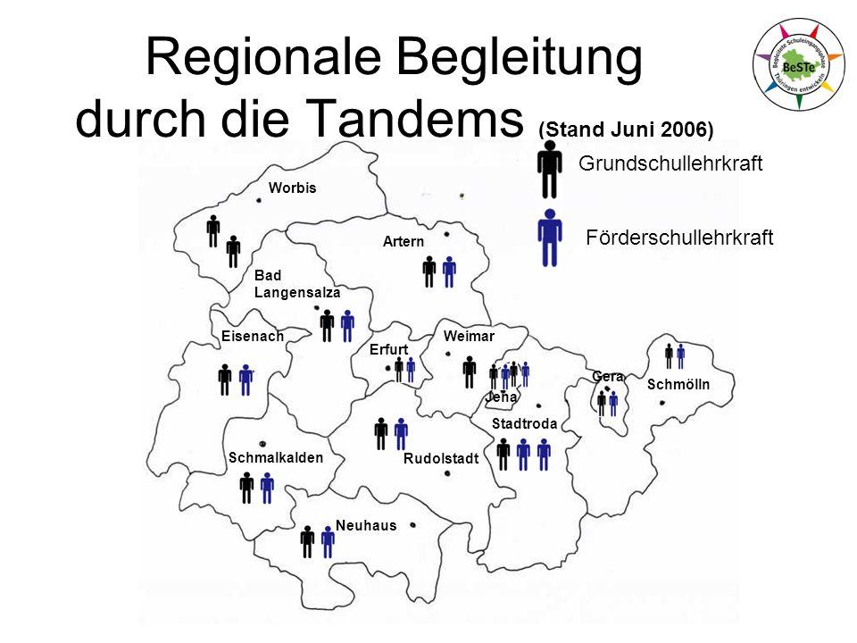Regionale Begleitung durch die Tandems (Stand Juni 2006)
