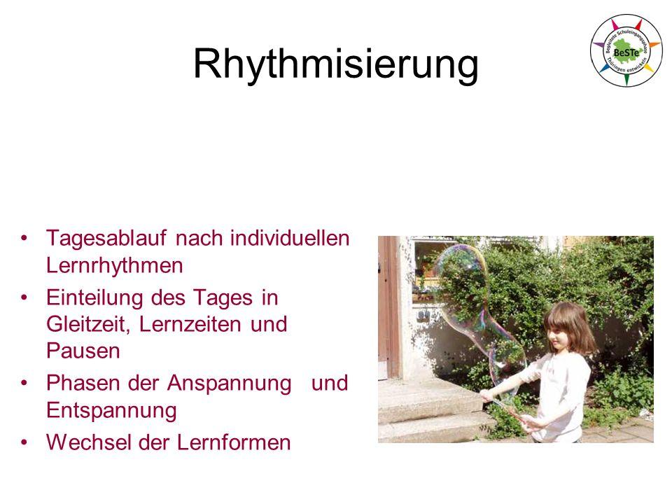 Rhythmisierung Tagesablauf nach individuellen Lernrhythmen