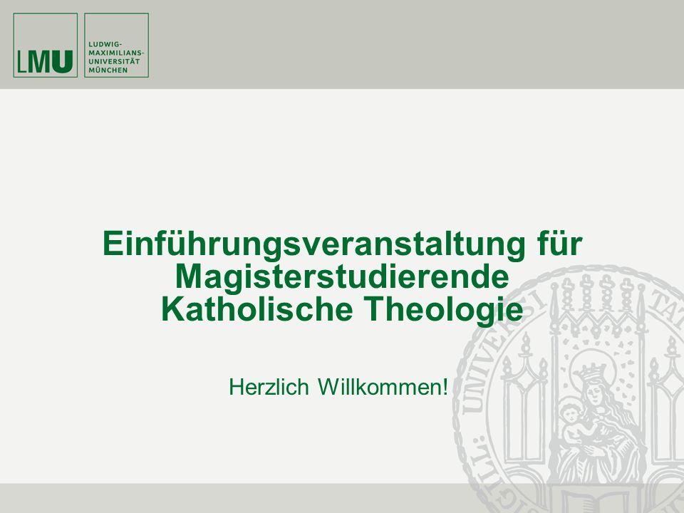 Einführungsveranstaltung für Magisterstudierende Katholische Theologie