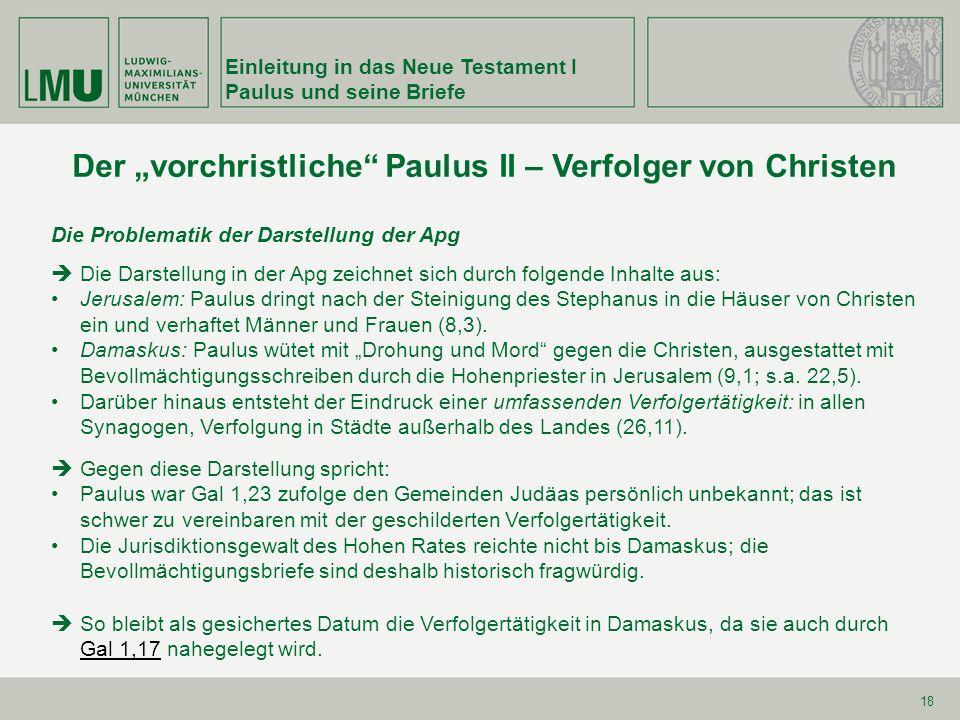 """Der """"vorchristliche Paulus II – Verfolger von Christen"""